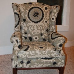 Reupholstering A Chair Desk Glasgow How To Reupholster Wingback Diy Project Aholic