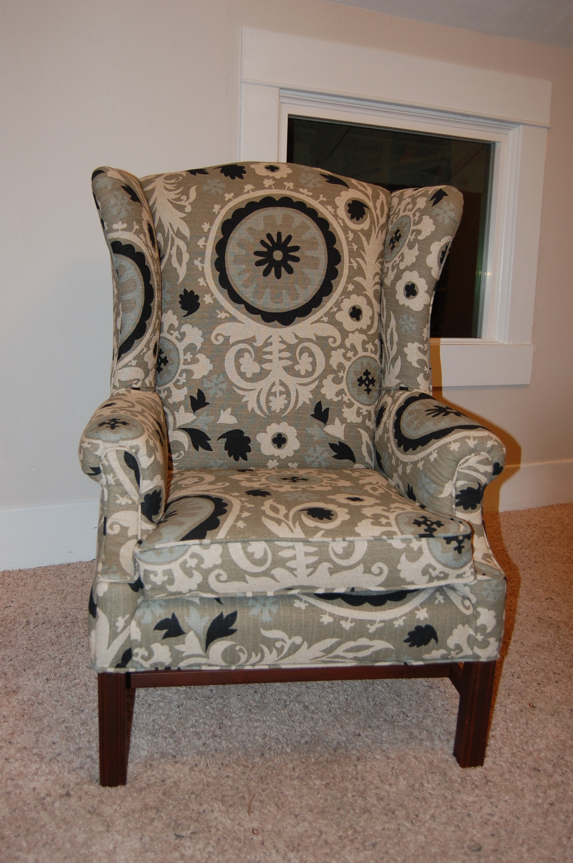 Cost Of Reupholstering A Chair How To Reupholster A Wingback Chair Diy Project Aholic