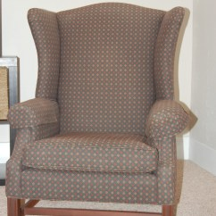 How Much Fabric To Cover A Chair Cushion Elephant Rocking Reupholster Wingback Diy Project Aholic