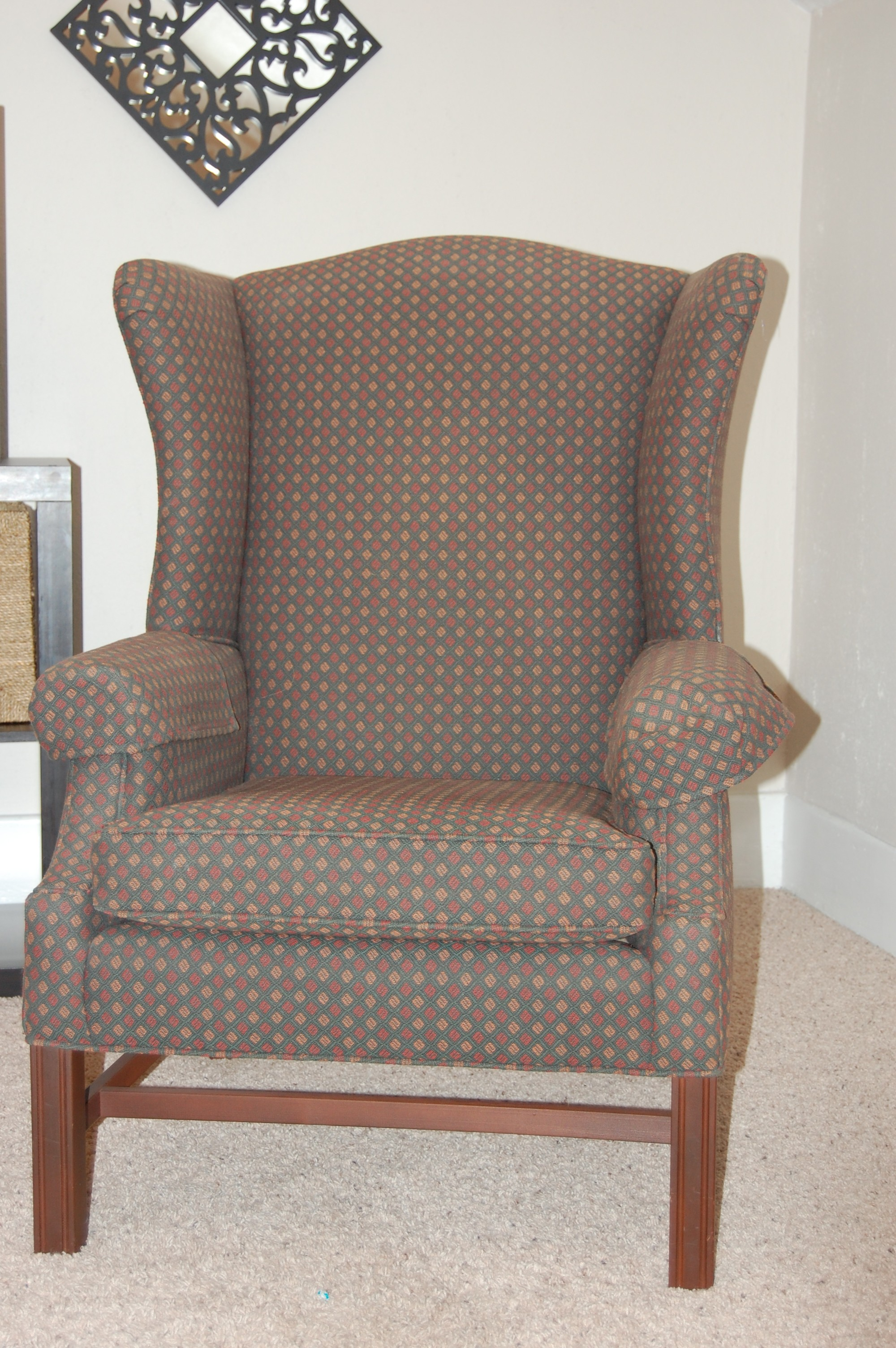 Wing Chair How To Reupholster A Wingback Chair Diy Project Aholic