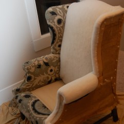 Upholstering A Chair Vintage Casters How To Reupholster Wingback Diy Project Aholic