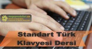 standart turk klavyesi dersi megep modulleri