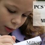 PCS Timeline for MilKids