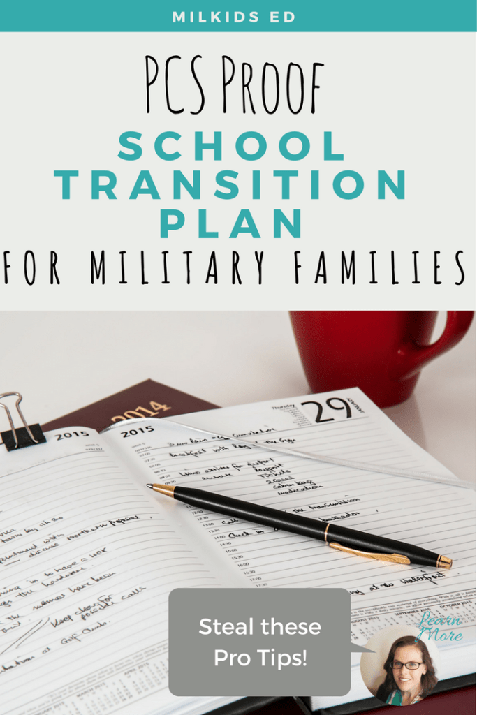 Make your next PCS easier with a solid school transition plan, from MilKids Ed! | Meg Flanagan, MilKids Ed | Making the K-12 Journey Easier