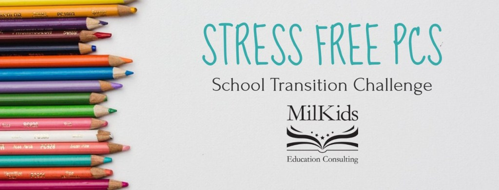 Join the Stress Free PCS School Transition Challenge! Learn essential tips that are easy to put into practice for military families on the move