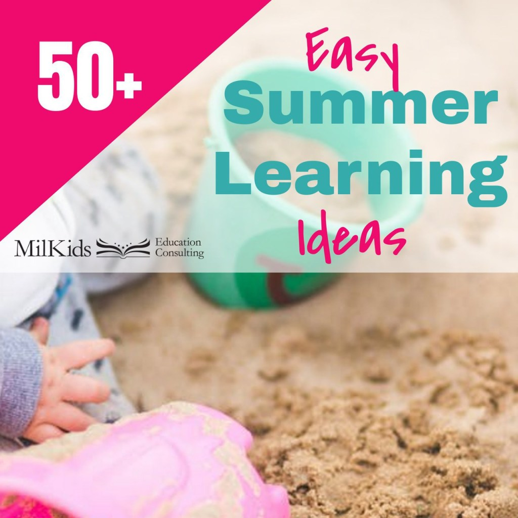 Easy summer learning ideas for busy parents to make summer learning fun