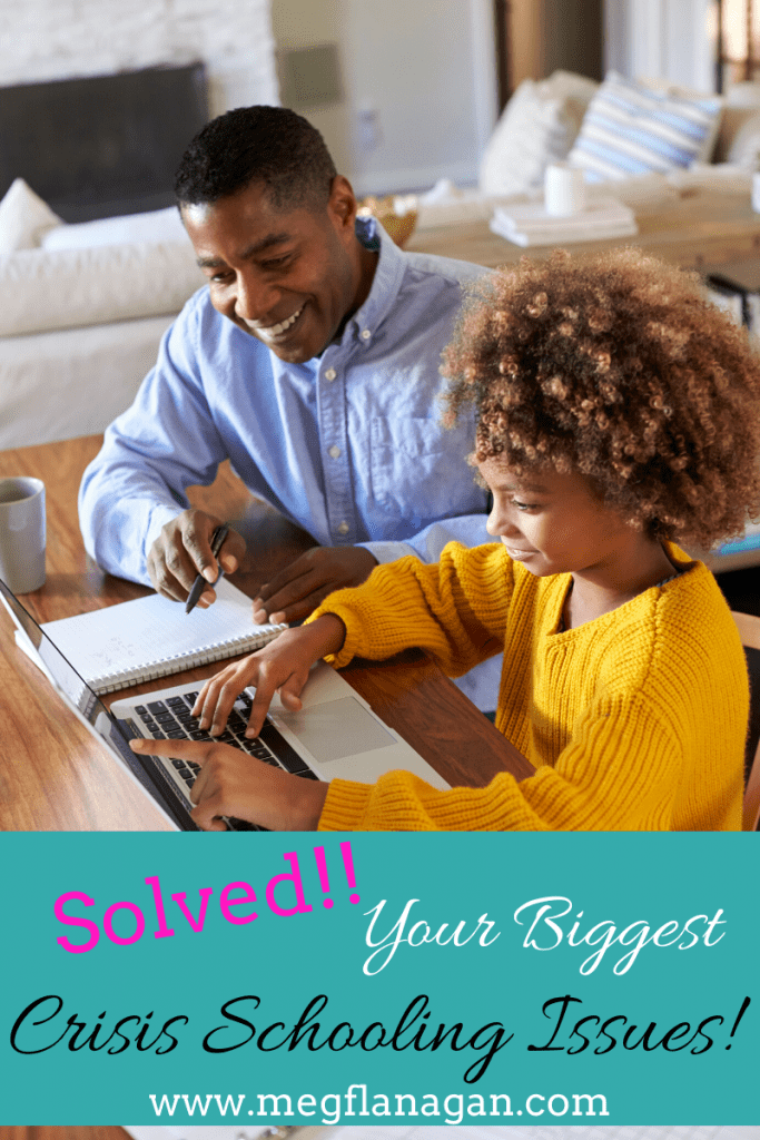 Get started solving some of the biggest crisis schooling issues parents are facing with simple tips you can use today!