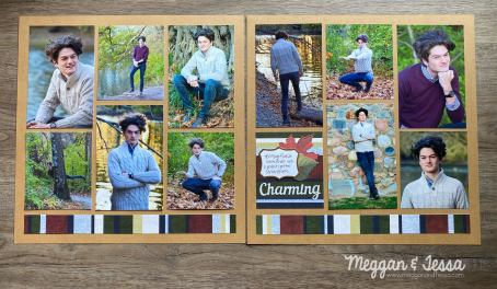 two page scrapbook layout featuring creative memories page template