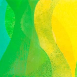 """Tell Me"" by Meghan MacMillan, 12 x 24"", acrylic on birch panel, 2014"