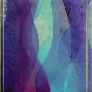"""Follow"" by Meghan MacMillan, Acrylic painting on birch, 10x10"", 2014"