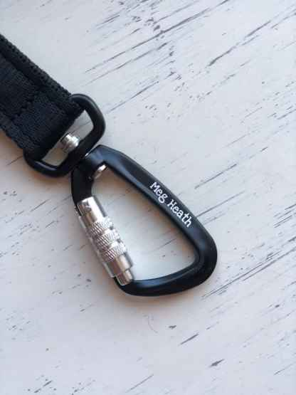 black swivel carabiner