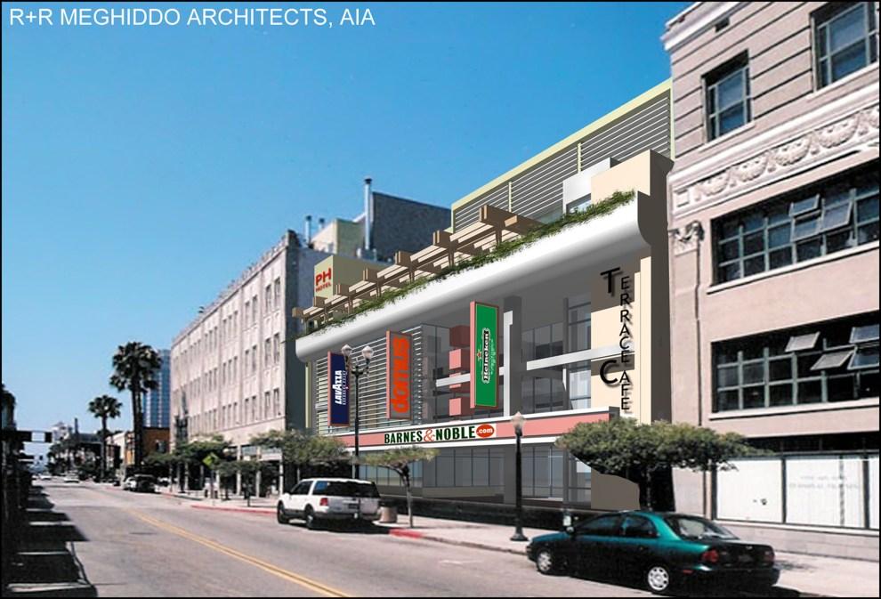Rick Meghiddo, Ruth Meghiddo, Meghiddo Architects, www.architectureawareness.com , www.rick-RE.com , www.naturaltowergarden.com , Long Beach, adaptive reuse, retail, boutique hotel