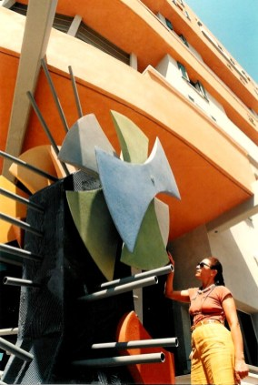 By the senior housing buildingin Jaffa