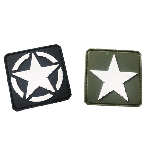 Black Sheep Warrior WWII Star Patch Set