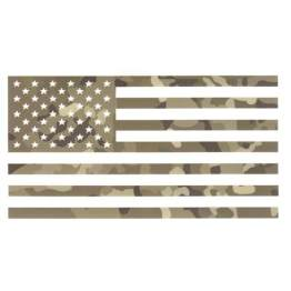 Vinyl American Flag Decal Set