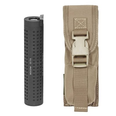 Large Torch Suppressor Pouch molle coyote