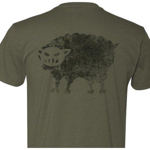 Black Sheep Warrior Logo Tshirt OD Green