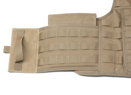 Warrior Assault Systems Side Armor Pouch Installed