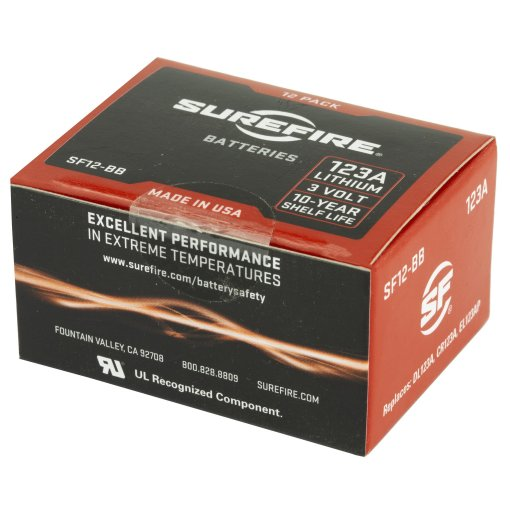 SureFire 123A Lithium Batteries – SF12BB (Box of 12) Best Price