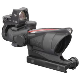 Trijicon ACOG 4×32 Scope with Dual Illuminated Red Chevron .223 Ballistic Reticle, 3.25 MOA RMR Type 2 Sight and TA51 Mount Best price
