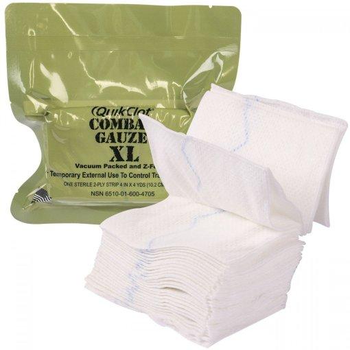 QuikClot Combat Gauze Z-Fold Hemostatic XL