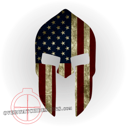 American Flag Spartan Helmet Decal