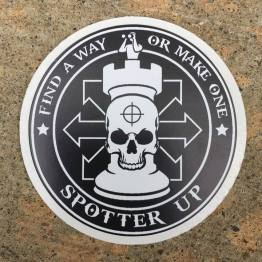 Spotter Up FIND A WAY OR MAKE ONE Black & White Sticker