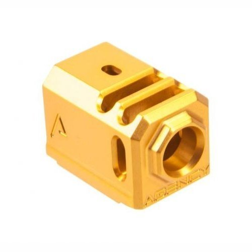 AGENCY ARMS GLOCK 43 417 COMPENSATOR - GOLD