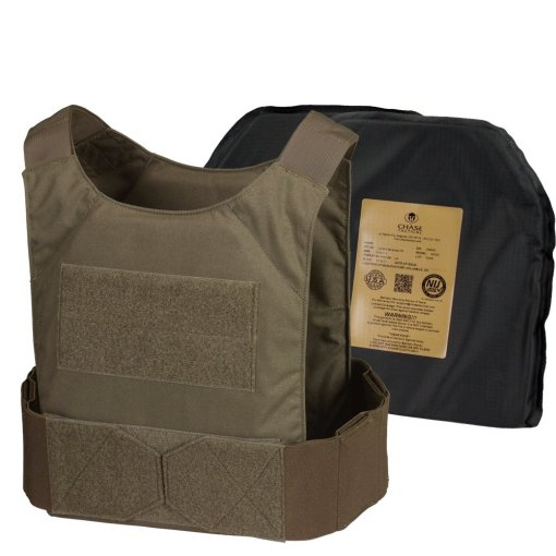 Chase Tactical LVPC IIIA Soft Armor Kit - Level 1 Ranger Green