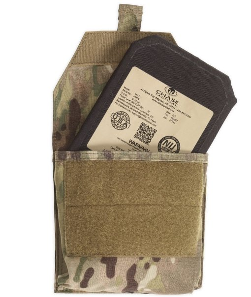 Chase Tactical Side Armor Plate Pockets - Open