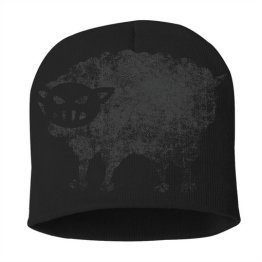 Black Sheep Warrior Logo Skull Beanie