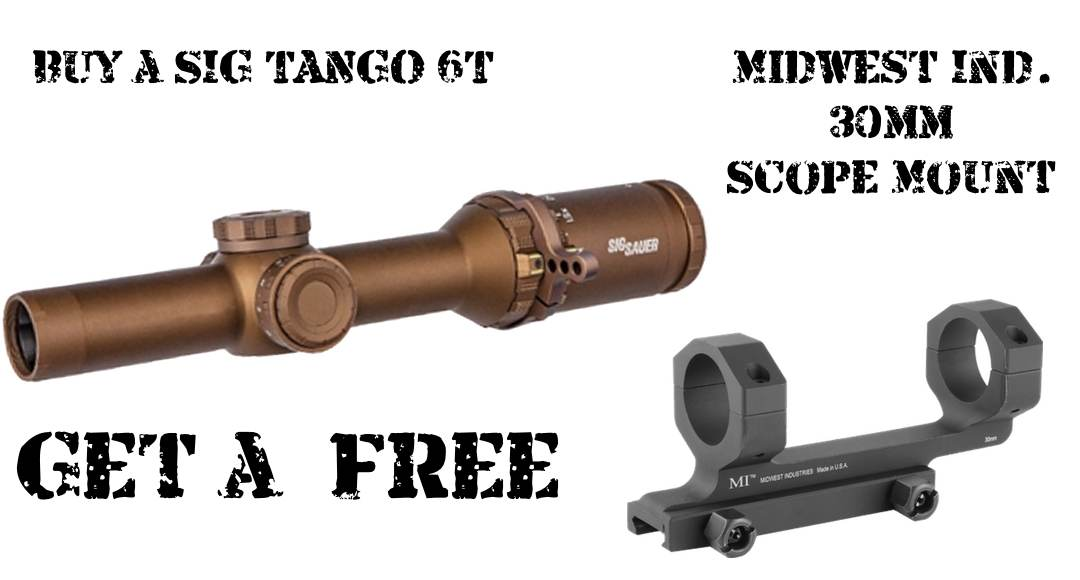 SIG Tango 6T And Scope Mount Combo