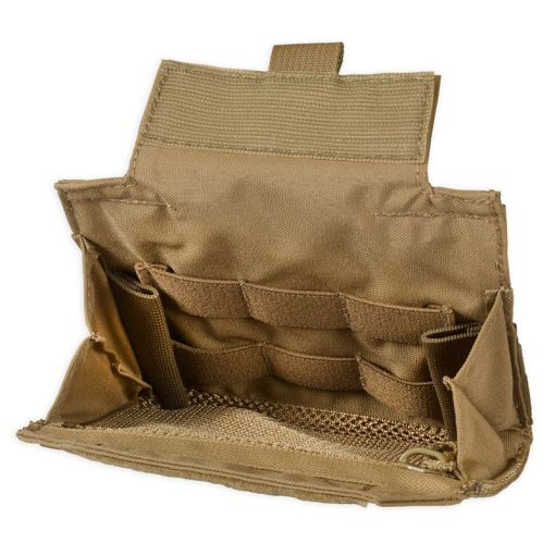 Chase Tactical Folding Admin Pouch - Coyote Open 3