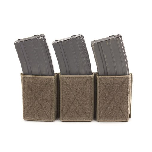 Chase Tactical Triple 5.56 Velcro Mag Pouch - Coyote