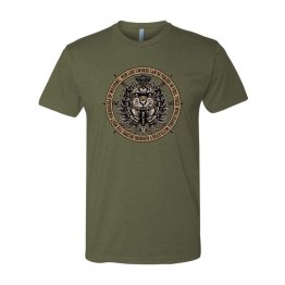 Spotter Up Tyger Burning Bright T-Shirt - Bright OD Green