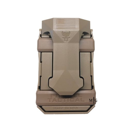 FDE Pitbull Single Pistol mag Pouch with Belt Clip