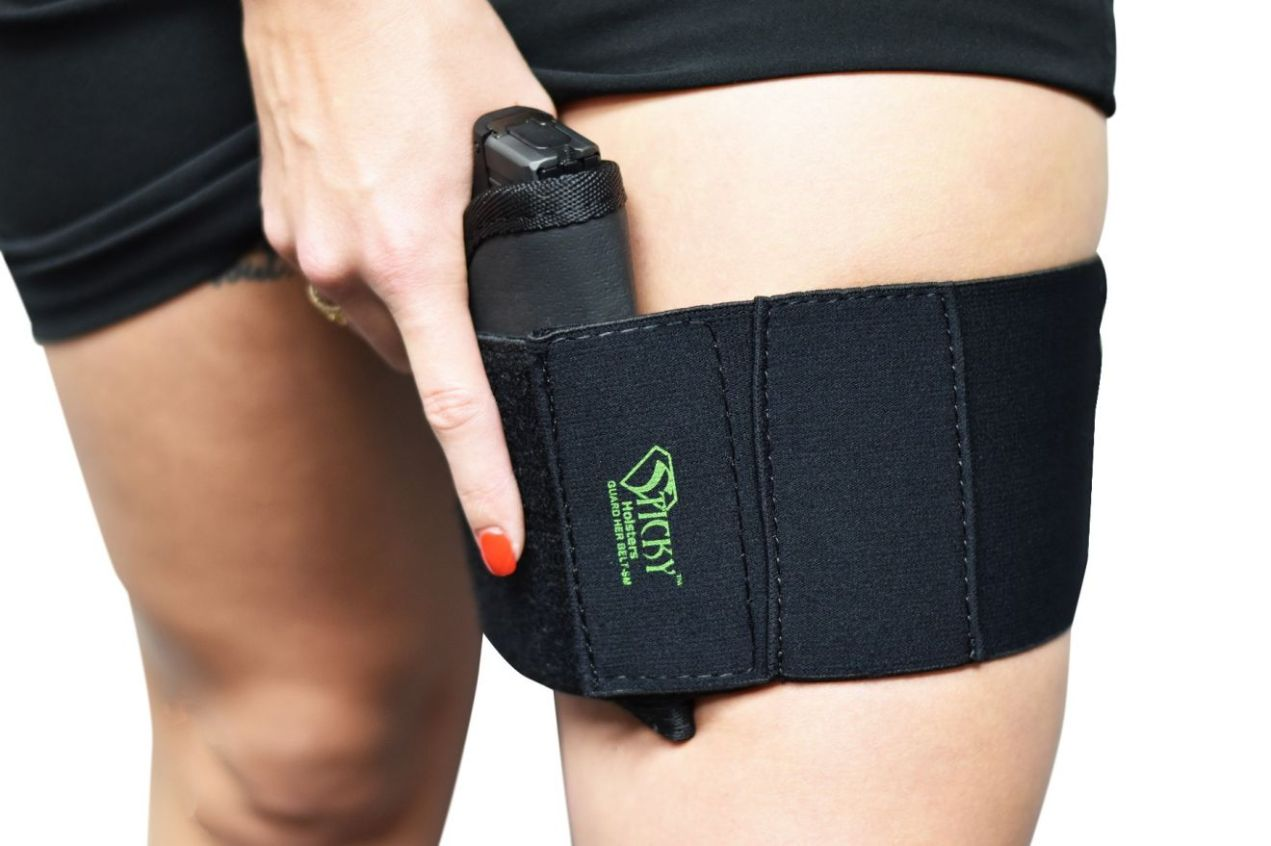 Sticky Holsters Guard Her Thigh Belt Holster
