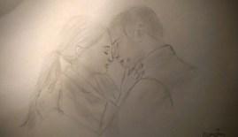 7 minute sketch of Tris Prior & Tobias Eaton from Divergent