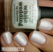 nail art white wedding