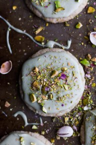 25 Recipes That Use Pistachios - Matcha Frosted Sugar Cookies from Meg is Well