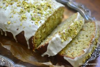 25 Recipes That Use Pistachio - Pistachio Cardamom Pound Cake from The View From Great Island