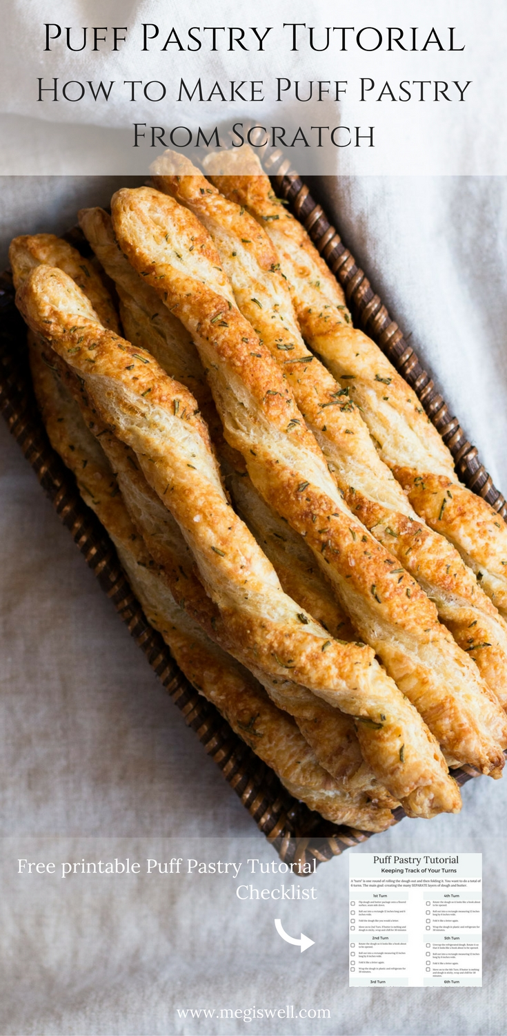 This Puff Pastry Tutorial will have you making puff pastry from scratch in no time. | www.megiswell.com