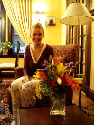 Meg with Catherine'sflowers
