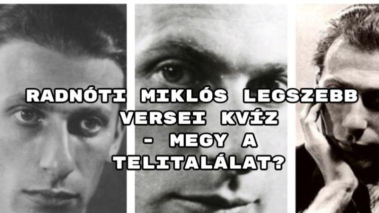 """Radnóti Miklós legszebb versei kvízünkben a költő legcsodálatosabb verseivel """"dolgozunk""""."""
