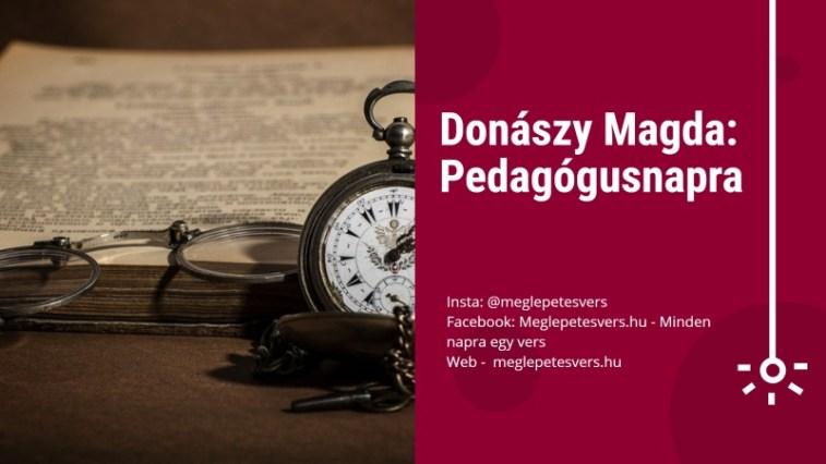 pedagógusnapi idézetek és versek Donászy Magda verse: Pedagógusnapra