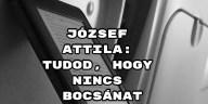 Jöjjön József Attila: Tudod, hogy nincs bocsánat verse.