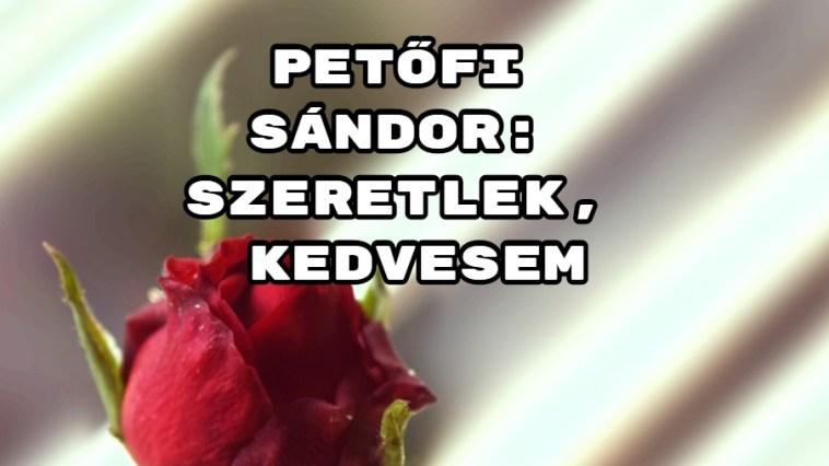 Jöjjön Petőfi Sándor: Szeretlek, kedvesem verse.