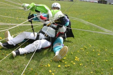 The Parachute landing.