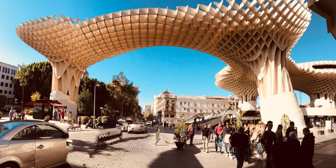 Metrolpol Parasol wooden structure.