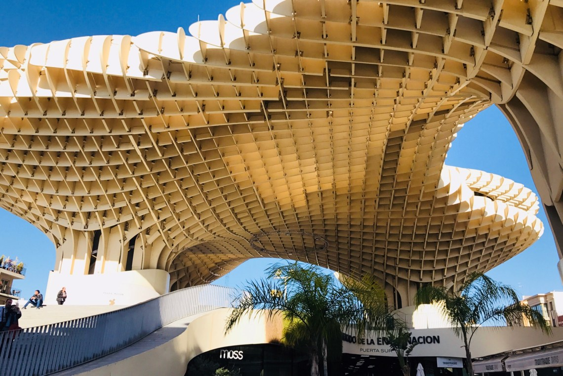 The beautiful wooden structure - Metrolpol Parasol.